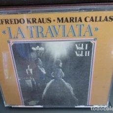 CDs de Música: DOBLE CD. LA TRAVIATA , ALFREDO KRAUS Y MARIA CALLAS. VOL 1 Y VOL. 2 CON LIBRETO . Lote 149099246