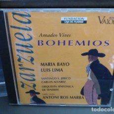 CDs de Música: ZARZUELA. AMADEO VIVES. BOHEMIOS. MARIA BAYO, LUIS LIMA. CD. EN BUEN ESTADO. Lote 149212810