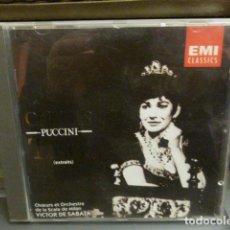 CDs de Música: MARIA CALLAS. PUCCINI - TOSCA - CD EN BUEN ESTADO. Lote 149229210