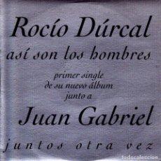 CDs de Música - ROCIO DURCAL CON JUAN GABRIEL - ASI SON LOS HOMBRES CD SINGLE 1 TEMA PROMO 1997 - 149322094