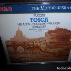 CDs de Música: PUCCINI - TOSCA - MILANOV, BJOERLING, WARREN, LEINSDORF. - THE VICTOR OPERA SERIES - . Lote 149359982