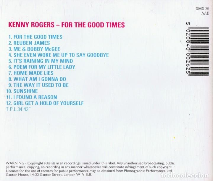 CDs de Música: KENNY ROGERS FOR THE GOOD TIMES - Foto 2 - 149477326