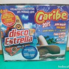 CDs de Música: CARIBE 2015 EXITOS DEL VERANO + DISCO ESTRELLA VOL 18 4 XCDS COMO NUEVO¡¡. Lote 149501622