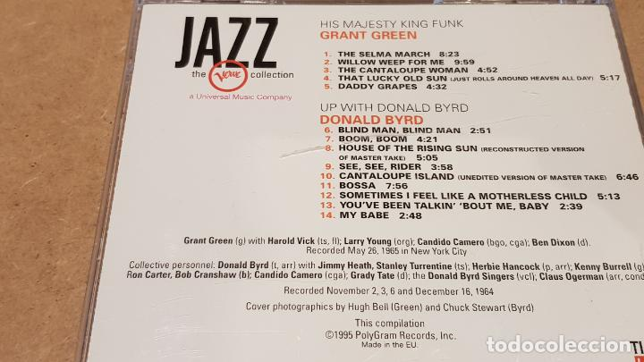 CDs de Música: GRANT GREEN / DONALD BYRD / THE VERVE COLLECTION - JAZZ / CD / 14 TEMAS / DE LUJO. - Foto 3 - 149505606