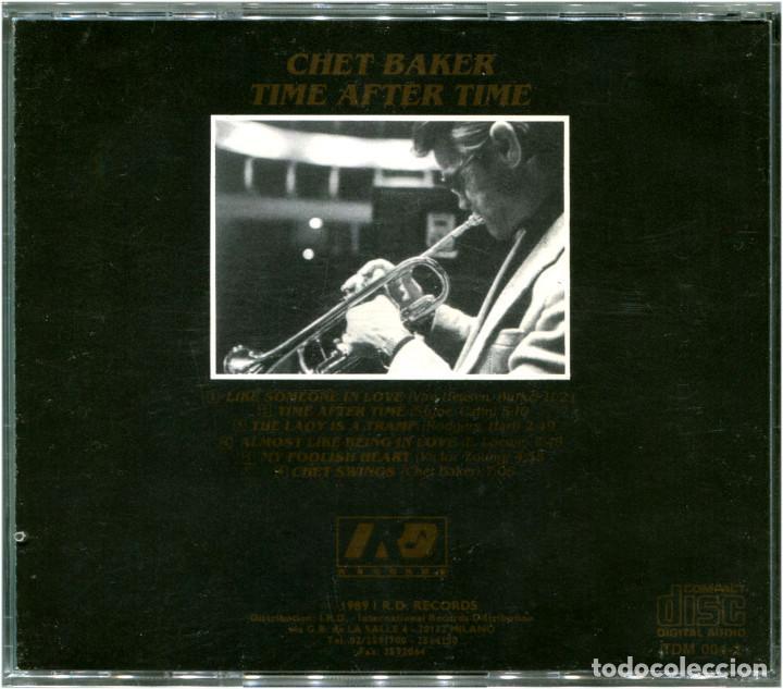 CDs de Música: Chet Baker – Time After Time - CD Italia 1989 - IRD Records TDM 004-2 - Foto 2 - 149641862