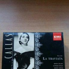 CDs de Música: LA TRAVIATA VERDI. MARIA CALLAS, ALFREDO KRAUS. EMI 1958. Lote 149685177