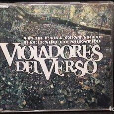 CDs de Música: VIOLADORES DEL VERSO- VIVIR PARA CONTARLO / HACIENDO LO NUESTRO CD MAXI MUY DIFICIL BUEN ESTADO. Lote 149687254