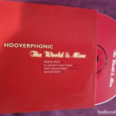 CDs de Música: HOOVERPHONIC THE WORLD IS MINE (REMIXES) PROMO CD-MAXI 1+3. Lote 149733314