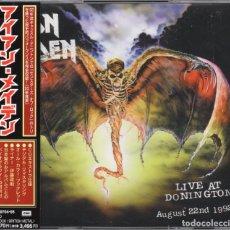 CDs de Música: IRON MAIDEN - LIVE AT DONINGTON - 2 CD - JAPAN 1998 - TOCP-50704•05. Lote 149857402