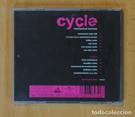 CDs de Música: CYCLE - MECHANICAL REMIXES - CD - Foto 2 - 149865842
