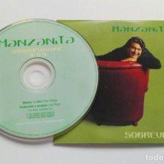 CDs de Música: MANZANITA 'SOBREVIVIRÉ' CD SINGLE PROMO 2000 DÍMELO PACO ORTEGA. Lote 150086626