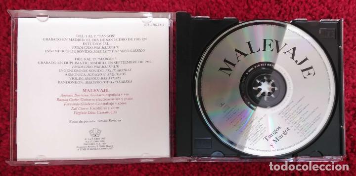 CDs de Música: MALEVAJE (TANGOS Y MARGOT) CD 1994 - Foto 3 - 150262846