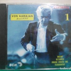 CDs de Música: CD VON KARAJAN INÉDITO. TIEMPO 1. MOZART, BEETHOVEN, STRAUSS JNR., TSCHAIKOVSKY. PRECINTADO ¡ PEPETO. Lote 150321754