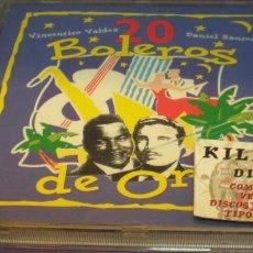 CDs de Música: 20 BOLEROS DE ORO - VICENTICO VALDÉS / DANIEL SANTOS - CD . Lote 150419738
