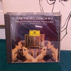 CDs de Música: MENDELSSOHN, ROMANCE SANS PAROLES BARENBOIM, DG. Lote 150587236