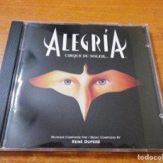 CDs de Música: CIRQUE DU SOLEIL ALEGRIA BANDA SONORA CD ALBUM AÑO 1994 12 TEMAS COMPOSITOR RENE DUPERE. Lote 150629094