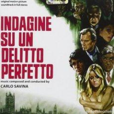 CDs de Música: INDAGINE SU UN DELITTO PERFETTO / CARLO SAVINA CD BSO. Lote 150683330