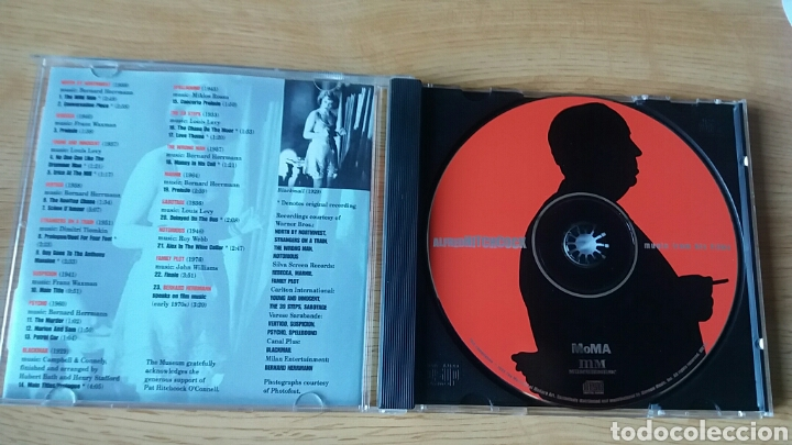 CDs de Música: Alfred Hitchcock.Music from his films. Rareza editada por el Moma, 1999. - Foto 4 - 150790009