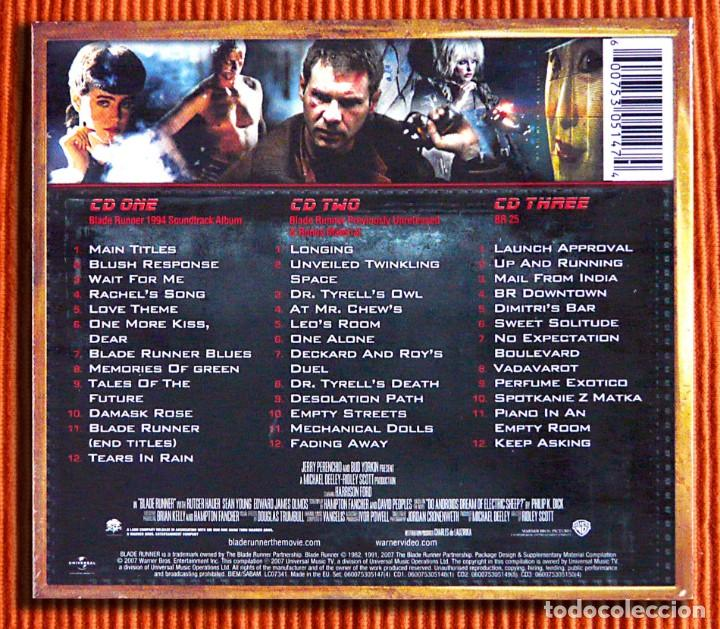 CDs de Música: VANGELIS - BLADE RUNNER Trilogy Edición Especial Digipack 3CD Precintado - Foto 2 - 150811598