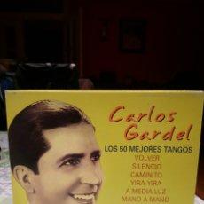 CDs de Música: 3 CD CARLOS GARDEL. LOS 50 MEJORES TANGOS. Lote 150827200