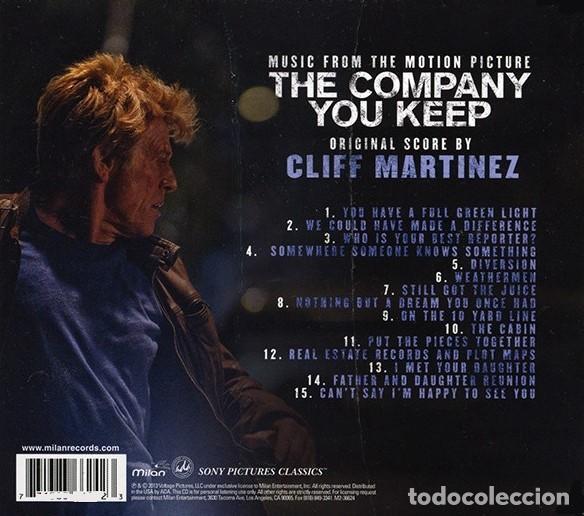CDs de Música: THE COMPANY YOU KEEP / Cliff Martinez CD BSO - Foto 2 - 150851550