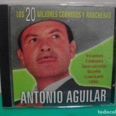 CDs de Música: ANTONIO AGUILAR LOS 20 MEJORES CORRIDOS Y RANCHERS CD ALBUM 2003 NUEVO¡¡ PEPETO. Lote 150919662