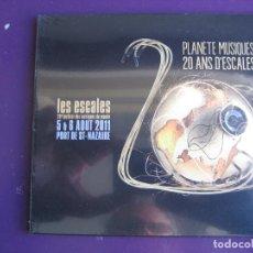 CDs de Música: PLANÈTE MUSIQUES 20 ANS D'ESCALES CD PRECINTADO 2011 - ELECTRONICA - JAZZ - REGGAE - LATIN FOLK. Lote 151095262