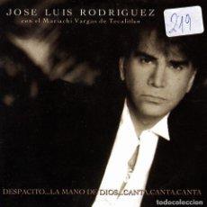 CDs de Música: JOSE LUIS RODRIGUEZ CON EL MARIACHI VARGAS DE TECALITLAN - DESPACITO..LA MANO DE DIOS..CD SINGLE 1 T. Lote 151234914