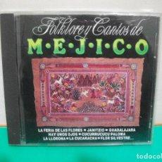 CDs de Música: FOLKLORE Y CANTOS DE MEJICO CD ALBUM 1990 PERFIL. Lote 151319658