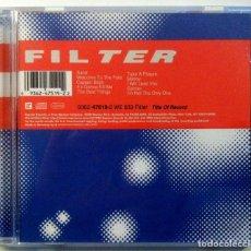 CDs de Música: FILTER - TITLE OF RECORD - CD 1999 - REPRISE RECORDS. Lote 151419506