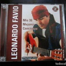 CDs de Música: DOBLE CD LEONARDO FAVIO MIS 30 MEJORES CANCIONES ( CD HECHO EN ARGENTINA ) FUISTE MIA UN VERANO. Lote 151470958
