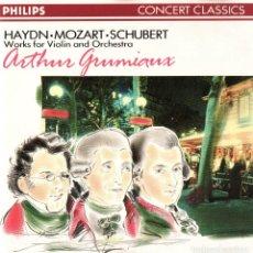 CDs de Música: ARTHUR GRUMIAUX - PIEZAS PARA VIOLIN Y ORQUESTA. DE HAYDN - MOZART- SHUBERT. . Lote 151592066