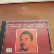 CDs de Música: ÉPOCA DE ORO DEL BOLERO. HOMENAJE ÁLVARO CARRILLO. VOLUMEN 1. EDICIÓN DE 1996 RARA. Lote 151733104