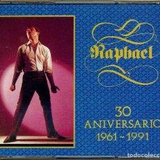 CDs de Música: DOBLE CD RAPHAEL 30 ANIVERSARIO ( CALIFORNIA ) YO SOY AQUEL // EL GONDOLERO // LLEVAN // SOMOS //. Lote 151762994