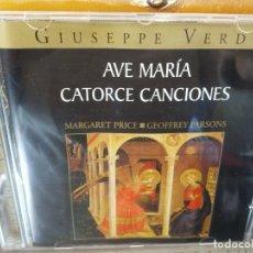 CDs de Música: BJS.CD.GIUSEPPE VERDI.AVE MARIA CATORCE CANCIONES.BMG.. Lote 151814638