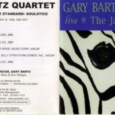 CDs de Música: GARY BARTZ QUARTET. THE JAZZ STANDAR. SOULJUSTICE. 2000.. Lote 151861674