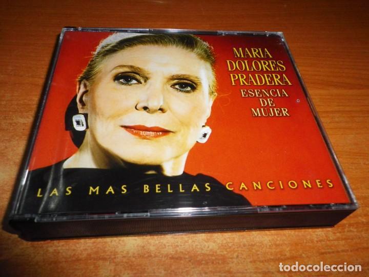 MARIA DOLORES PRADERA ESENCIA DE MUJER TRIPLE CD 2000 CARLOS CANO EL CONSORCIO JOAQUIN SABINA 3 CD (Música - CD's Melódica )