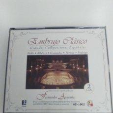 CDs de Música: EMBRUJO CLASICO 2CD FERNANDO ARGENTA FALLA ALBENIZ GRANADOS TURINA RODRIGO. Lote 151904802