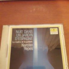 CDs de Música: NARCISO YEPES. NUIT DANS UN JARDÍN D'ESPAGNE. EDICIÓN DE 1971 MUY RARA. Lote 152041128