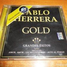 CDs de Música: PABLO HERRERA GOLD CD ALBUM DEL AÑO 2002 CHILE CONTIENE 17 TEMAS CANTANTE POP CHILE RARO. Lote 152202478