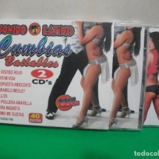 CDs de Música: SONIDO LATINO CUMBIAS BAILABLES DOBLE CD ALBUM 40 EXITOS NUEVO¡¡. Lote 152234310