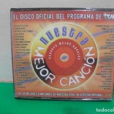 CDs de Música: 3 CDS NUESTRA MEJOR CANCIÓN DISCO OFICIAL DE TVE 2004 RECOPILATORIO 50 CANCIONES NUEVO¡¡. Lote 152234482