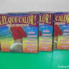 CDs de Música: ¡ AY QUE CALOR TRIPLE CD ALBUM ¡ NUEVOS 1992. Lote 152235162