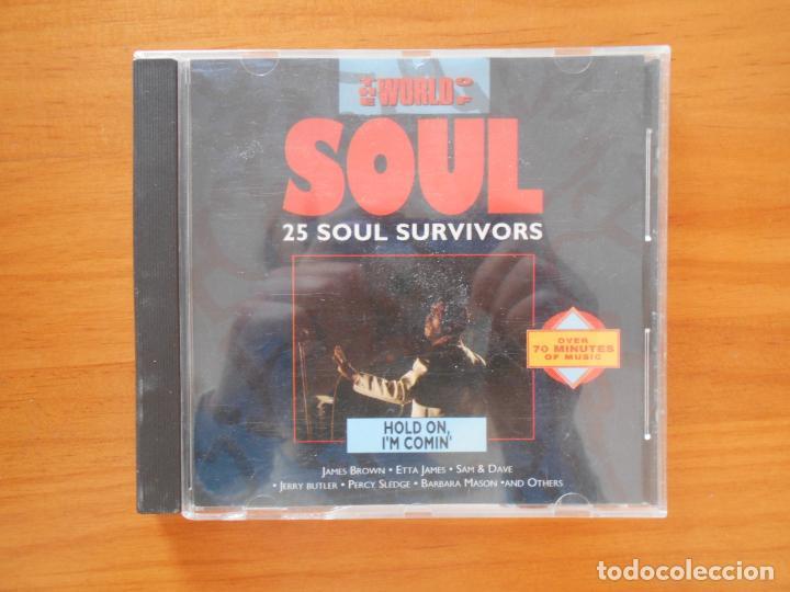 CD THE WORLD OF SOUL - HOLD ON I'M COMIN' - 25 SOUL SURVIVORS (2U) (Música - CD's Jazz, Blues, Soul y Gospel)