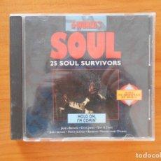 CDs de Música: CD THE WORLD OF SOUL - HOLD ON I'M COMIN' - 25 SOUL SURVIVORS (2U). Lote 152249030