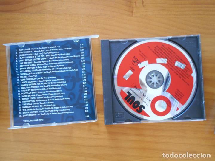 CDs de Música: CD THE WORLD OF SOUL - HOLD ON I'M COMIN' - 25 SOUL SURVIVORS (2U) - Foto 2 - 152249030