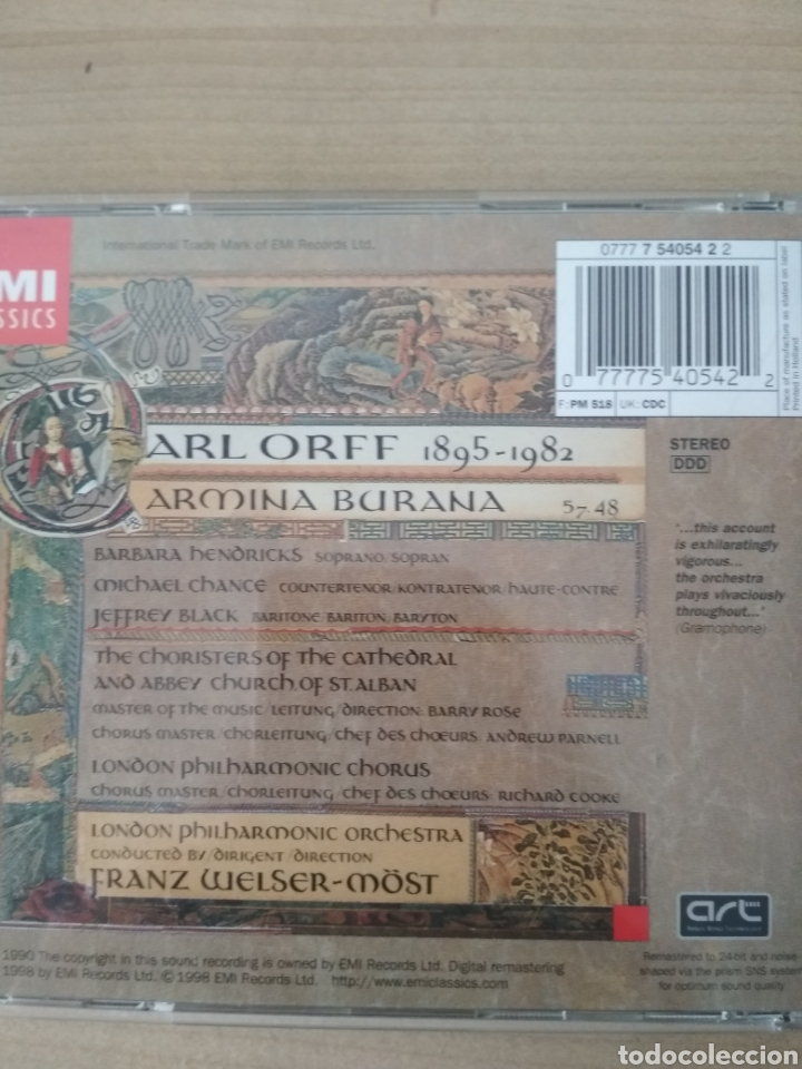 CDs de Música: Carmina Burana - Foto 3 - 200035457