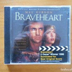 CDs de Musique: CD BRAVEHEART - ORIGINAL MOTION PICTURE SOUNDTRACK (C8). Lote 152256470