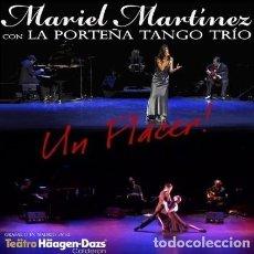 CDs de Música: LA PORTEÑA TANGO TRÍO / MARIEL MARTÍNEZ - UN PLACER! - CD. Lote 152286238