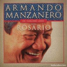 CDs de Música: ARMANDO MANZANERO CON ROSARIO / ME VUELVES LOCO (CD SINGLE CARTON PROMO 2002). Lote 152317314